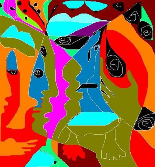 Monica Malbeck  'Chiefs Meeting Garden Island', created in 2008, Original Digital Art.