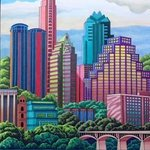 austin skyline By Monica Puryear