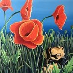 zoey and the giant poppies By Monica Puryear