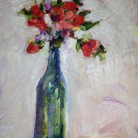 Sherry Harradence Artwork Just One More Day, 2013 Oil Painting, Floral