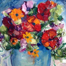 Sherry Harradence Artwork Spring is Blooming, 2013 Oil Painting, Floral