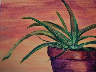 Lauren Mooney Bear Artwork Dessert Aloe, 2010 Acrylic Painting, Southwestern