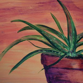 Lauren Mooney Bear: 'Dessert Aloe', 2010 Acrylic Painting, Southwestern. Artist Description:    Plant, Southwestern Sky ...