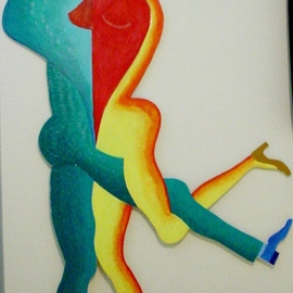 Guy Octaaf Moreaux Artwork Love tango, 2006 Oil Painting, Dance