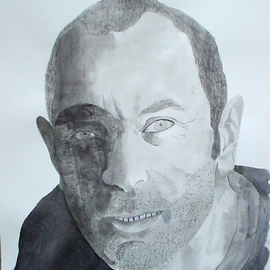 Guy Octaaf Moreaux: 'Self portrait', 2006 Other Painting, Portrait. Artist Description: Painting Sumi- e, japanese black ink painting on paper. ...