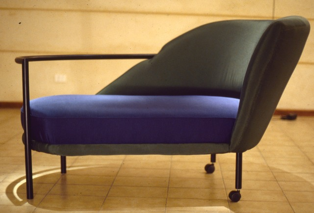 Guy Octaaf Moreaux  'Chaise Longue Elie', created in 1990, Original Pastel Oil.