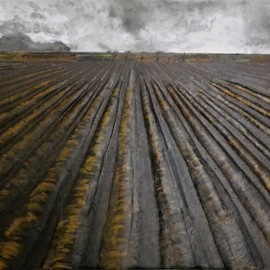 Guy Octaaf Moreaux: 'flanders fields', 2017 Oil Painting, nature. Artist Description: A theme that has been painted many times by flemish painters. These fields are in my mind since childhood, they are so representative of the flemish landscape. Fields which have been labored for so many centuries, which have been battlefields many times though we tend to think only ...