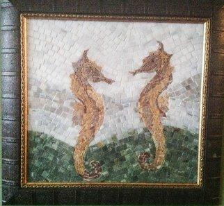 Mosaic by Mustafa Sayman titled: Seahorses mosaic , 2013