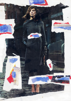 Collage by Mos Riera titled: Danzas y encuentros en la niebla, created in 2004