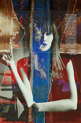 Collage by Mos Riera titled: Dark eyes of you, 2007
