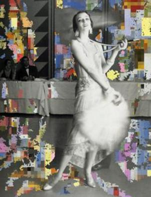 Collage by Mos Riera titled: You come running to me, 2003