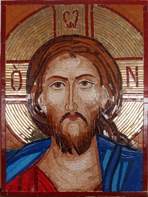 Mosaic by Diana  Donici titled: Jesus Byzantine Icon , created in 2014