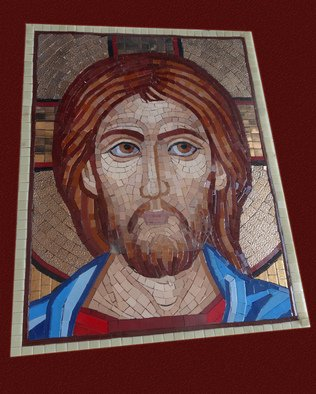 Mosaic by Diana  Donici titled: Jesus  Icon, created in 2013