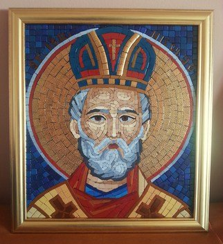 Mosaic by Diana  Donici titled: St Nicolas mosaic icon, created in 2013