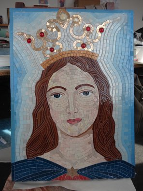 Mosaic by Diana  Donici titled: Virgin Mary Queen, created in 2012