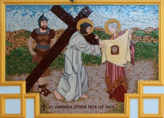 Mosaic by Diana  Donici titled: Way of the Cross, created in 2012