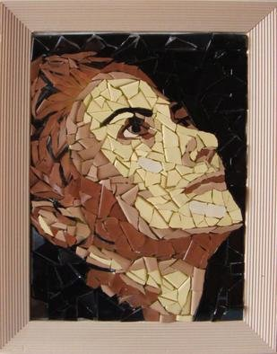 Mosaic by Diana  Donici titled: Young woman dramatic portrait, created in 2011