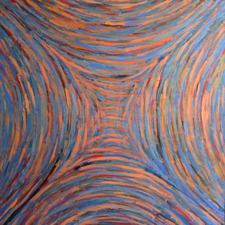 Acrylic Painting by Mircea  Popescu titled: Arch I, 2014