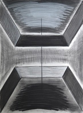 Artist: Mircea  Popescu - Title: Vertical I - Medium: Charcoal Drawing - Year: 2014