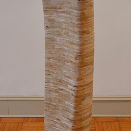 Mircea  Popescu: 'Wings II', 2014 Mixed Media Sculpture, Abstract. Artist Description:                Abstract, Postmodern, Minimalism, Mixed media           Postmodern, Minimalism, Mixed media               Wood and plaster            ...