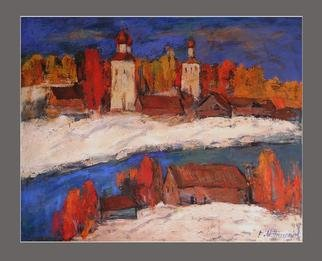 Artist: Mikhail Priorov - Title: Yaroslavl  - Medium: Oil Painting - Year: 2013