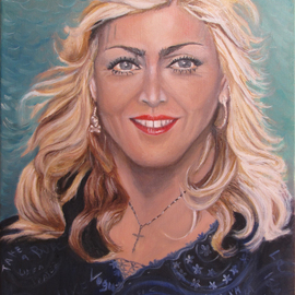 Rosa Protopapa: 'madonna', 2017 Oil Painting, Famous People.