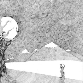 Christopher Rowan: 'chaos terrain', 2012 Ink Drawing, Surrealism. Artist Description: Messing around with pointillism and abstract landscapes. ...
