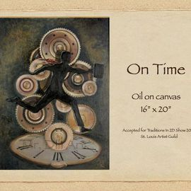 Mr. Dill: 'On Time', 2009 Oil Painting, Surrealism. Artist Description:          Time and its present day affects on our culture      ...
