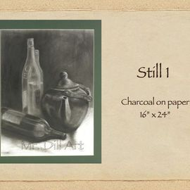 Mr. Dill Artwork Still 1, 2009 Charcoal Drawing, Still Life