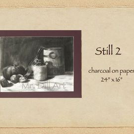 Mr. Dill Artwork Still 2, 2009 Charcoal Drawing, Still Life