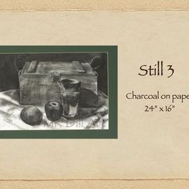 Mr. Dill Artwork Still 3, 2009 Charcoal Drawing, Still Life
