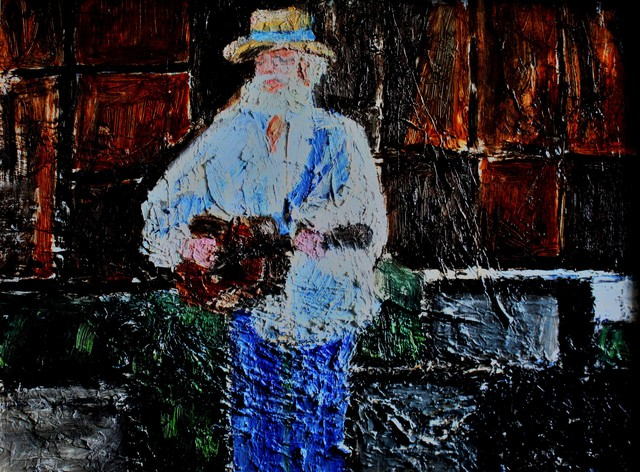 Guitar Player Art Painting