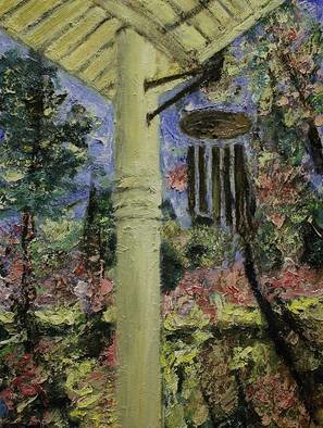 Artist: Jim Relyea - Title: wind chimes - Medium: Oil Painting - Year: 2017