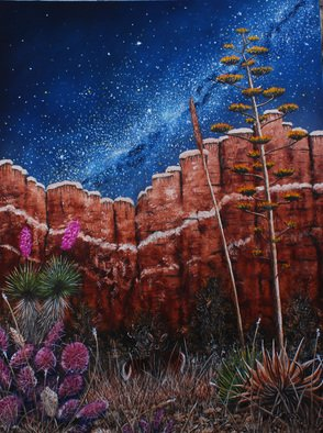 Mike Ross Artwork Chisos Canyon Big Bend National Park, 2015 Oil Painting, Landscape