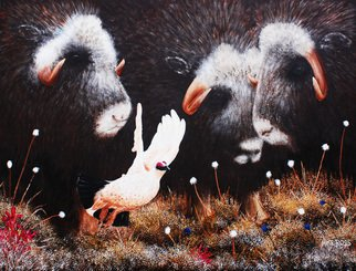 Mike Ross Artwork I Am Outta Here, 2014 Oil Painting, Animals