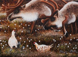 Mike Ross Artwork Keep Your Distance, 2014 Oil Painting, Animals