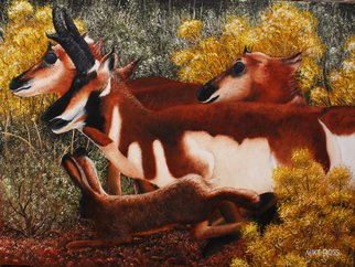 Mike Ross Artwork Wanta Race, 2014 Oil Painting, Animals
