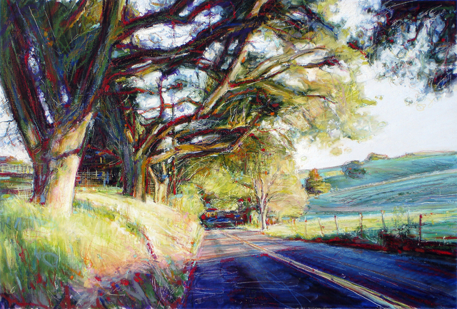 Steven Gordon  'West Napa Afternoon', created in 2008, Original Pastel.