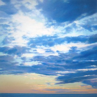 Steven Gordon: 'cape clouds 1', 2017 Pastel, Landscape. Cape Cod clouds in late afternoon...