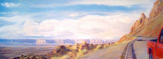 Steven Gordon: 'four corners', 2016 Pastel, Landscape. Road down from Sedona, AZ...