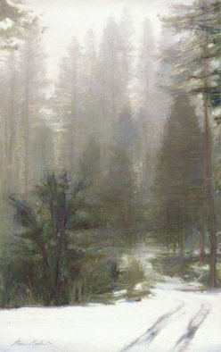 Steven Gordon: 'fresh snow', 2007 , Landscape. Limited Edition Print of snow scene in the Foothills of the Sierra Mountains. Original was oil painting. ...