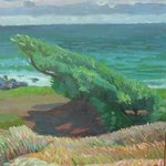 Windswept Ocean Tree By Philip Riley