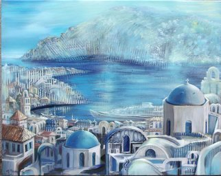 Rafal Mruszczak Artwork greek coast, 2017 Oil Painting, Landscape