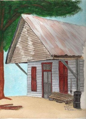 Mary Shobe: 'Old Store', 2001 Mixed Media, Americana. Watercolor, Pen & Ink and Pencil painting of an old store in South Carolina. ...