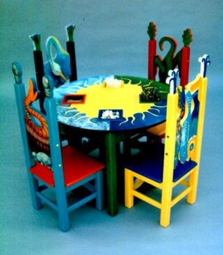 Michelle Scott: 'Childrens Table and Chairs', 1996 Furniture, Children.