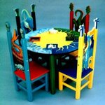 Childrens Table and Chairs By Michelle Scott