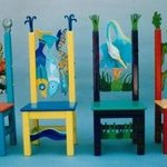 Childrens Chairs Detail, Michelle Scott