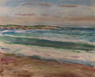 Beach Pastel by Michael Garr Title: After a Storm, evening, at Narragansett, created in 2012