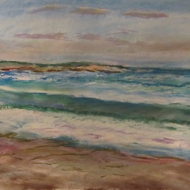 Michael Garr Artwork After a Storm, evening, at Narragansett, 2012 Pastel, Beach