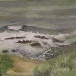 Hungry Ocean Beavertail Plein air By Michael Garr